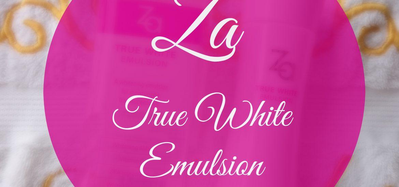 Za True White Emulsion Review and Price In India