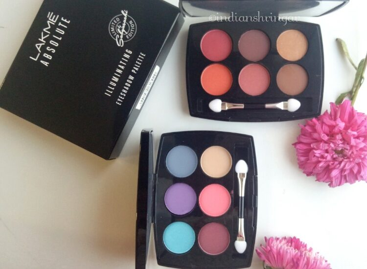 Lakme Illuminate Eyeshadow French Rose, Roayl Persia review, swatches and EOTD
