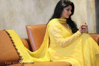 Festive fashion - yellow anarkali