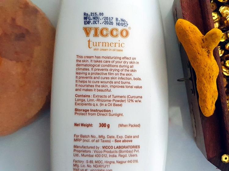 Vicco Turmeric Skin Cream in Oil Base review