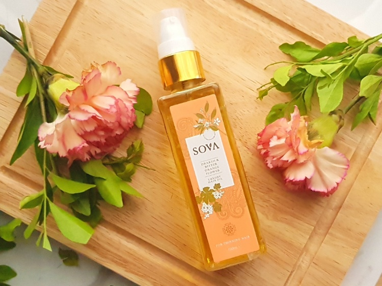 Sova hair oil for hair massage