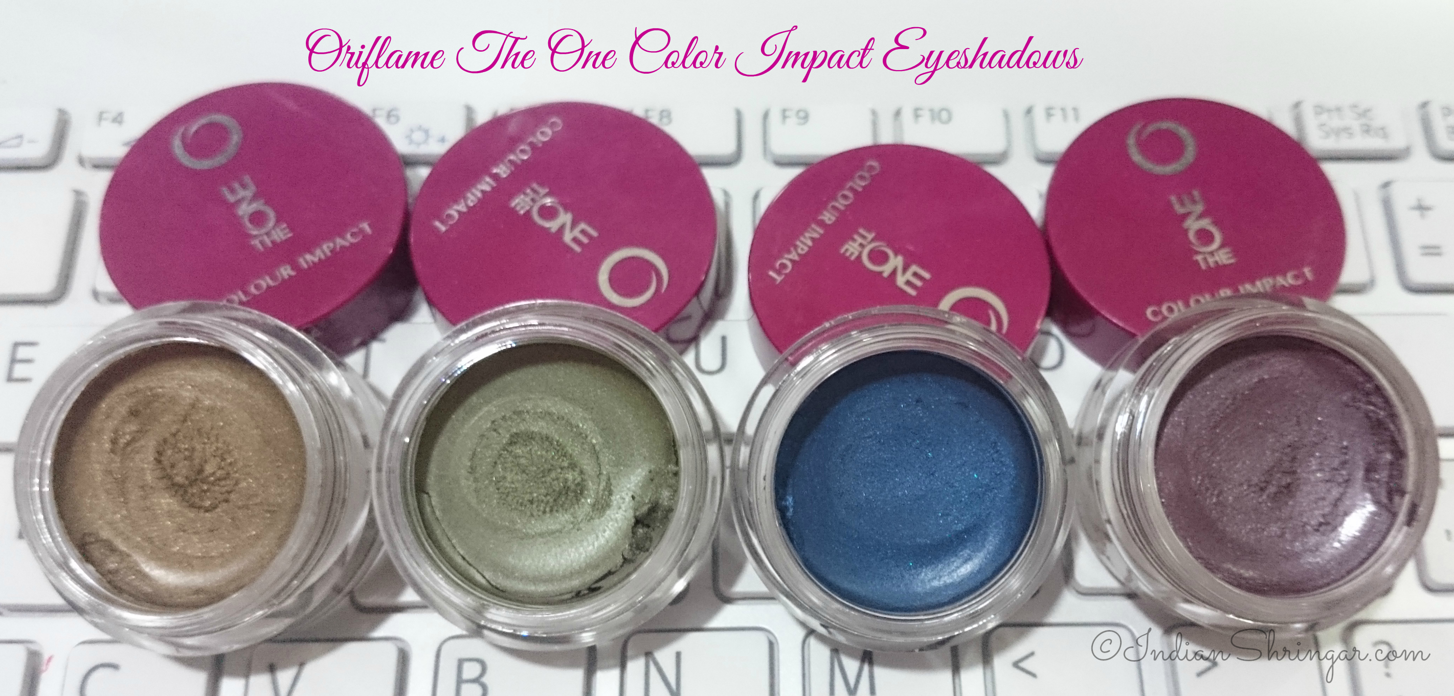 Oriflame The One Color Impact Eyeshadows review and swatches