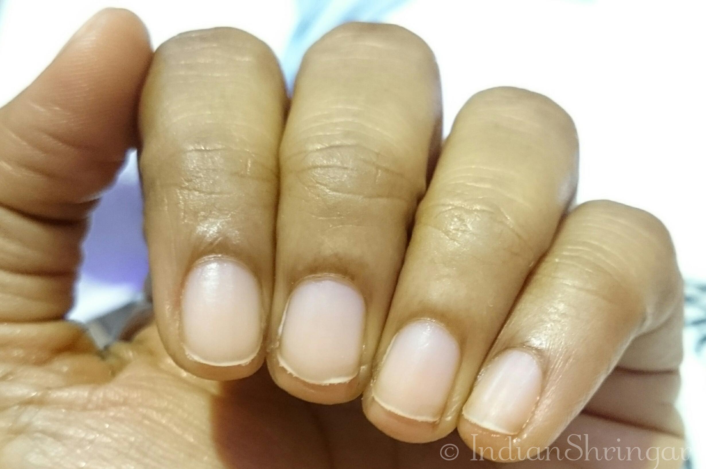 Gel nails extension manicure