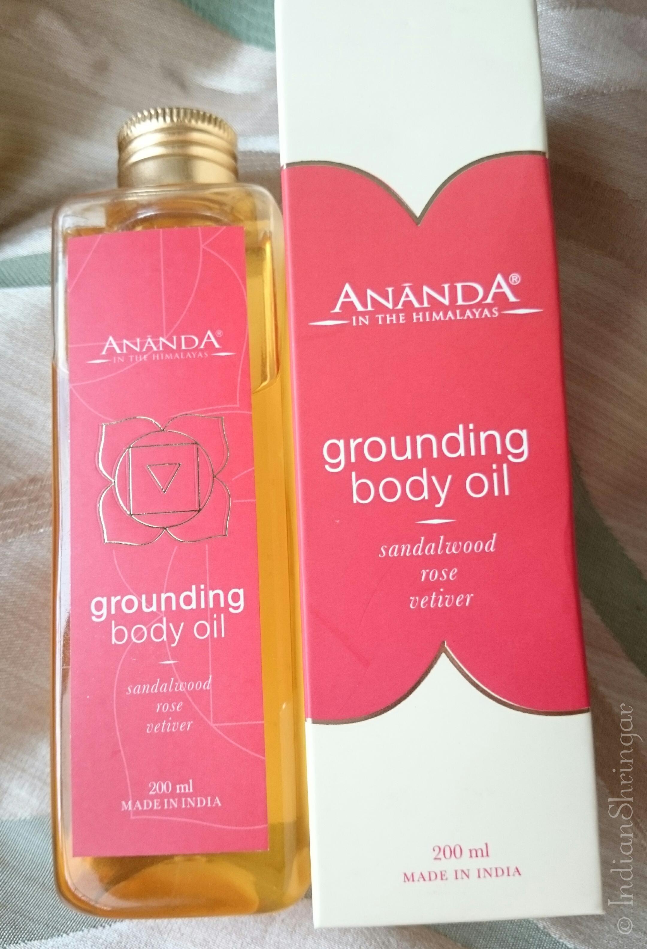 Ananda Spa Grounding Salt Scrub and Grounding Oil Review