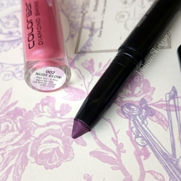 Colorbar Eyeshadow Stick & Diamond Shine Lip Gloss Review