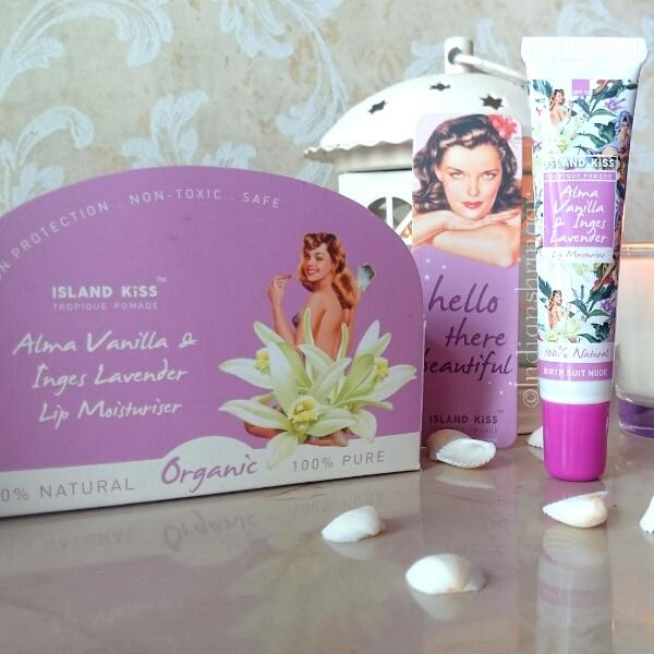 Island Kiss Alma Vanilla & Inges Lavender Lip Moisturiser review