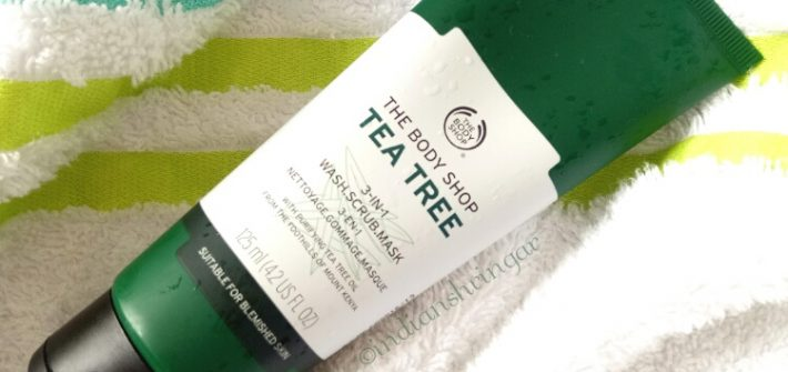 The Body Shop Tea Tree Wash, Scrub, Mask review