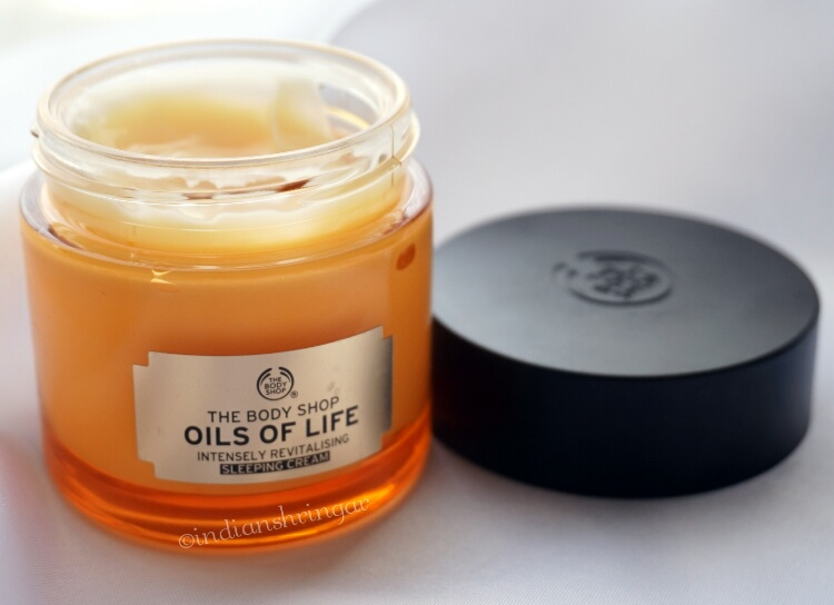 The Body Shop Oils of Life Sleeping Cream review