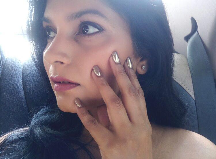 Chrome nails from Jean-Claude Biguine salon