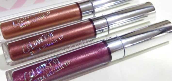 Colourpop Ultra Metallic Lip review and swatches