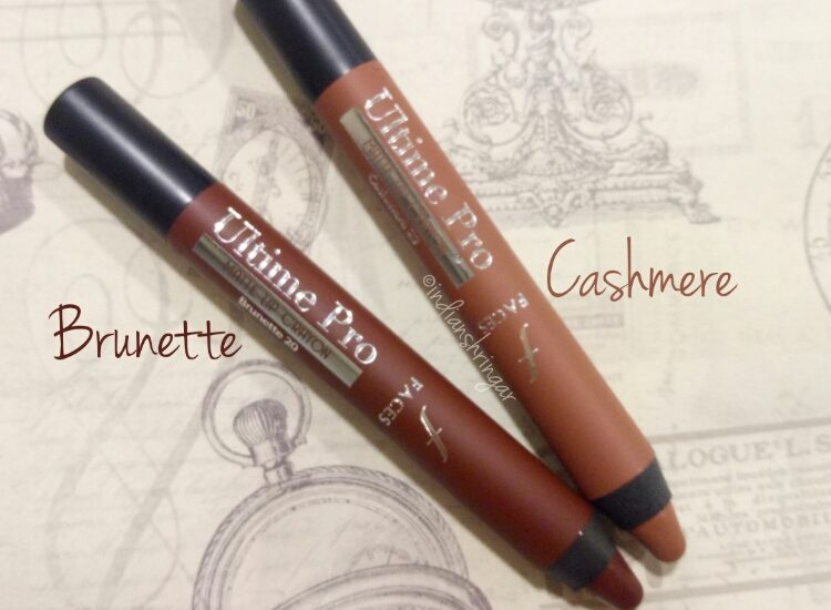 Faces Ultime Pro Matte Lip Crayon Review and swatches