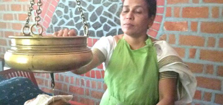 Shirodhara at Kairali Ayurvedic Healing Village