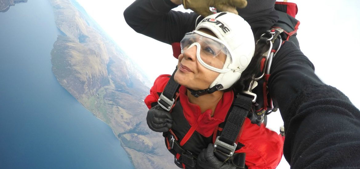 Skydiving Over Queenstown New Zealand The Bombay Brunette