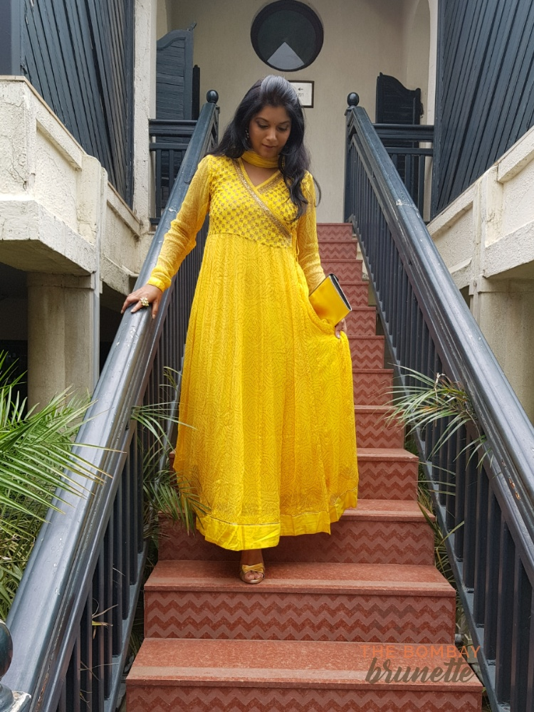 Festive fashion - yellow anarkali