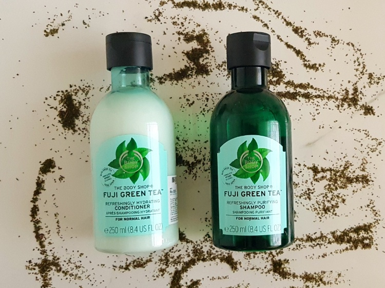 The Body Shop Fuji Green Tea Shampoo and Conditioner review