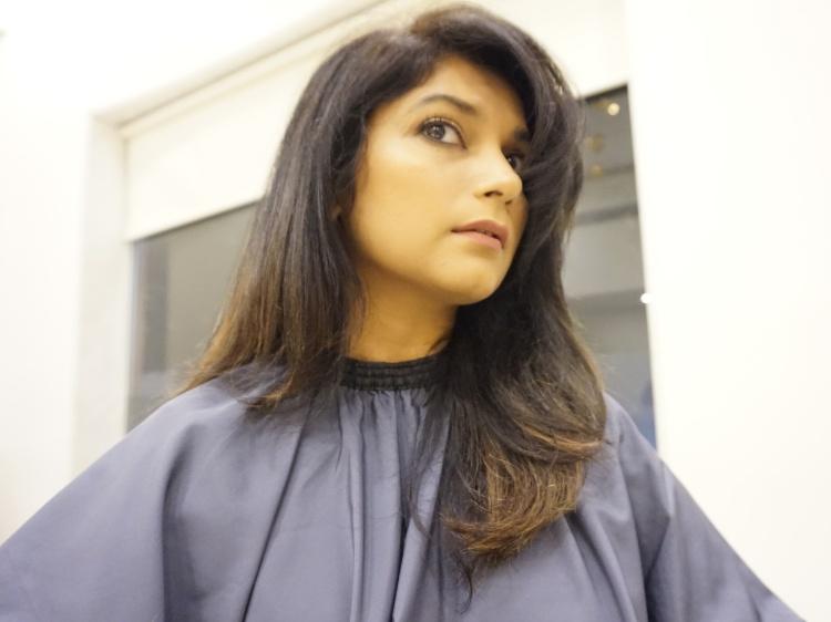 Hair makeover - henna and  indigo hair colour removal