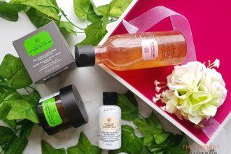 The Body Shop Matcha Mask, Rose Toner, Ginseng & Rice Powder wash review