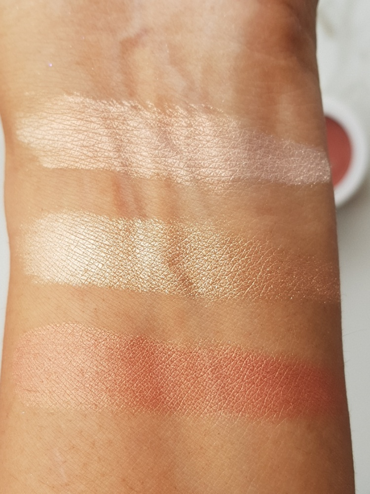 Colourpop Supershock blush and Lustre dust highlighter review and swatches