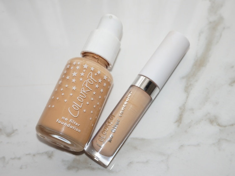 Colourpop No Filter Foundation & Concealer review and swatch