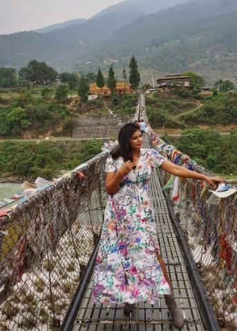 Punakha Suspension Bridge, Bhutan