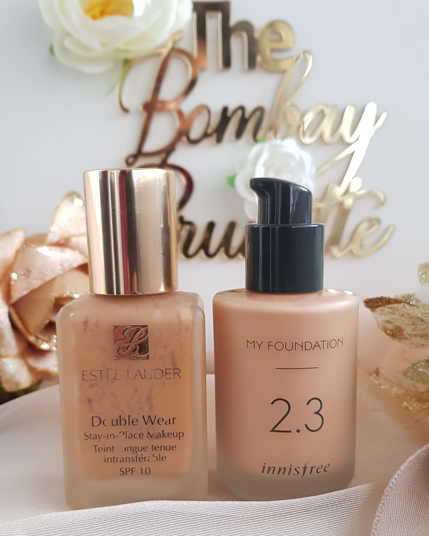 Estee Lauder Double Wear vs Innisfree My Foundation 2.3