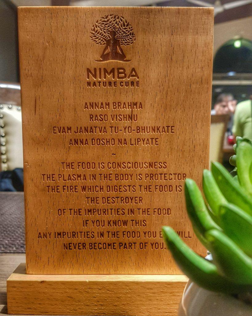 Food philosophy at Nimba