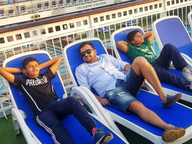 Deck on Jalesh Cruises Karnika