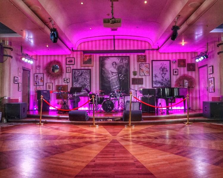 Band & Performance area at Connexions Bar on Jalesh Cruises Karnika